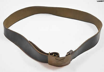 Original vintage leather belt from Russian Army USSR (110 cm)