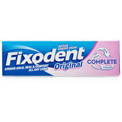 Fixodent Original Denture Adhesive Cream  47g Pack