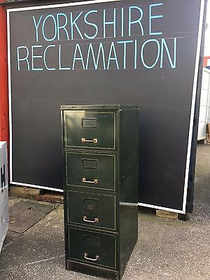 RONEO 1940s  Vintage Metal Office Filing Cabinet Cabinets Industrial Storage