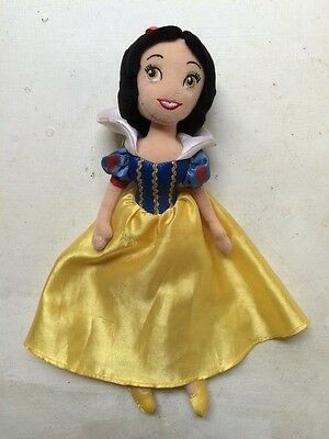 "Snow White 11"" soft doll Disney Store toy Dwarves"