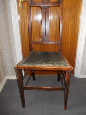 Edwardian Carved Back Chair