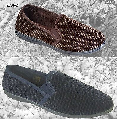 Coolers Mens Slippers Full Back Foot indoor shoes Size 7 8 9 10 11 12 NAVY BROWN