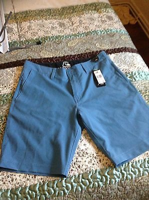 Men's Quicksilver blue shorts new with tags 31 inches