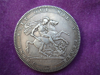 1818 King George III Silver Crown