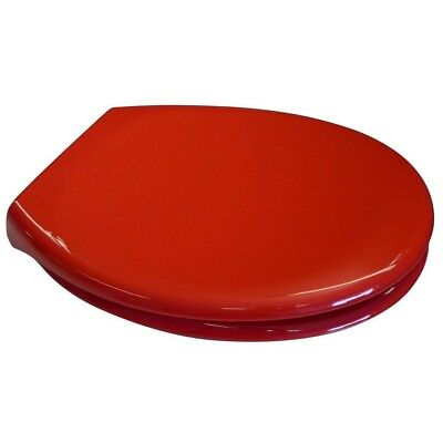 Euroshowers Red Soft Close Toilet Seat PP Opal Quick Top & Bottom Fix Blind Hole