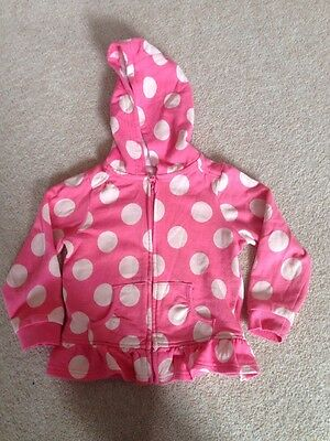 3-4 Years Pink Spotted Hoodie