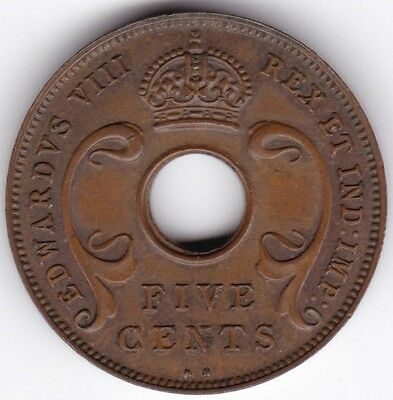 1936 British East Africa 5 Cents***Collectors***