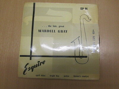 Wardell Gray With Art Farmer Late Great Ep Uk 1St Esquire Ex/vg+