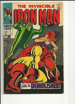 The Invincible Iron Man 4 Issues, #1,2,9,18 Silver Age Marvel Comics Great Shape