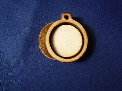"""Mini Wooden Embroidery hoop for Necklaces or pendants - 1"""" size"""