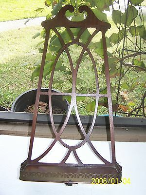 Antique Fretwork Wooden Wall Display Shelf with Brass Rim