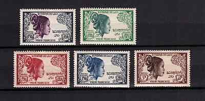 Laos Stamps - 1951 - 1st Issues (b) - No.4,8,10,12 &14