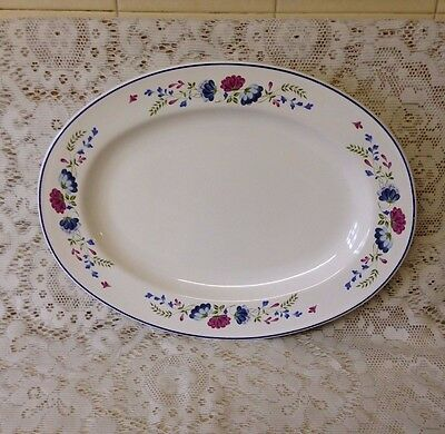 "British Home Stores Priory Pattern Oval Serving Platter 14"" x 11"" ~ BHS"