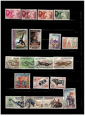 Laos Stamps - ( 1951 to 1975) Mixed 2