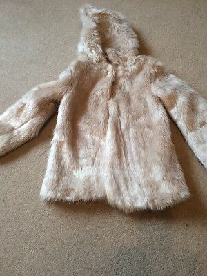 Blue Zoo Faux Fur Christmas Coat 8-9 Years Excellent!!