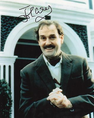 """Authentic John Cleese Signed  """" Basil """" Fawlty Towers 10 X 8 Photo Monty Python"""