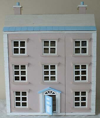 Four Storey Wooden Dolls House - Filled With Furniture