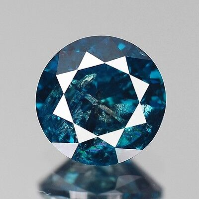 0.55cts 5mm Natural Diamond Round Fancy Blue Loose Diamonds Free Shipping