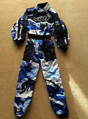 Wulfsport Cub Racing Suit, Gloves And helmet