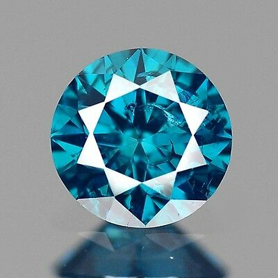0.20ct 3.7mm Natural Diamond Round Fancy Blue Loose Diamonds Free Shipping