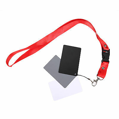3 in 1 Digital White Black Grey Balance Cards 18% Gray Card with Neck Strap