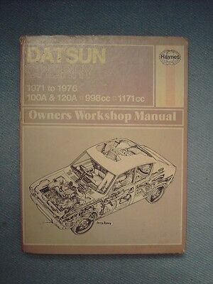 HAYNES WORKSHOP MANUAL No.195 FOR DATSUN CHERRY 100A & 120A 1971 - 76