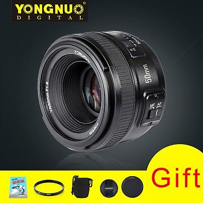 Yongnuo 50mm F1.8 Standard Prime Lens Auto Manual Focus AF MF for Nikon + 5 Gift