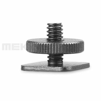 "High Quality 1/4"" Tripod screw to Camera Flash Hot Shoe Mount Adapter *2 New"