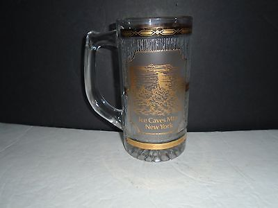 Ice Caves Mountain New York Gold Etched Glass Mug