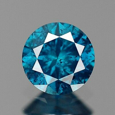 0.22ct 3.8mm Natural Diamond Round Fancy Blue Loose Diamonds Free Shipping