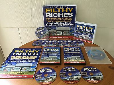 Filthy Riches Home Study Course By Larry Goins - 2 MANUALS,  9 CD'S & 2 DVD'S!