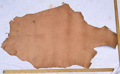 Leather Hide Skin Light Tan approx 115 x 65cm
