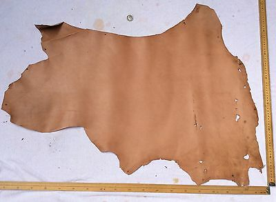 Leather Hide Skin Light Tan approx 100 x 70cm