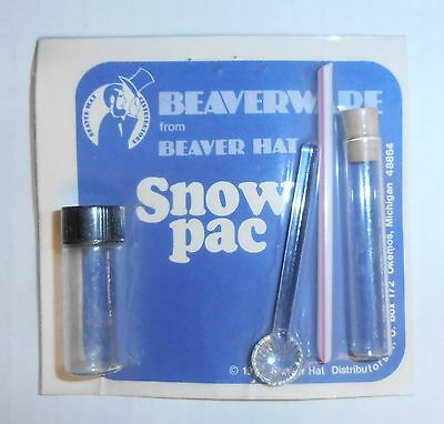 "Vintage Snuff Kit ""Snow Pac"", Acrylic Vials, Acrylic Spoon & Straw, BRAND NEW"