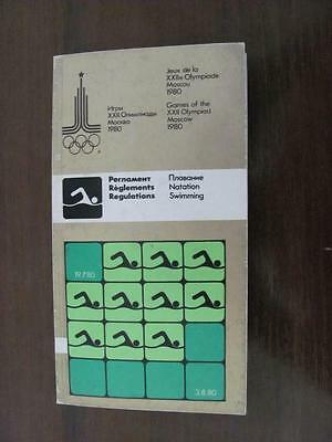 Programme Olympic Games Moscow 1980 - SWIMMING