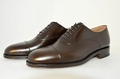 Man-Oxford Captoe-Francesina-Brown Calf-Vitello Marrone-Leather Sole-Suola Cuoio