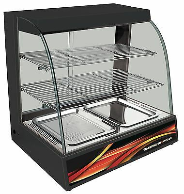 New Black Hot Food Cabinet Display With Water Base