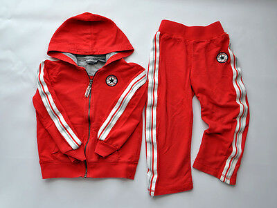 Converse Boys Girls All Star Tracksuit RED  4T