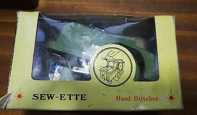 Vintage Sew-ette Hand Operated Toy Sewing Machine  WITH BOX!