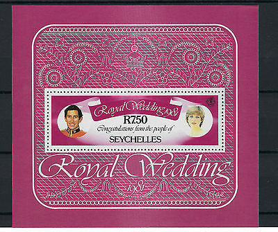 Seychelles 1981 Wedding M/sheet Ms 511 Mnh. Post Free To The Uk.