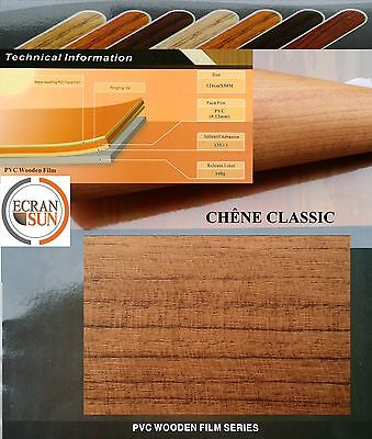 covering adhesif BOIS CHENE CLASSIC - thermoformable - (50 cm x 1.22 m)