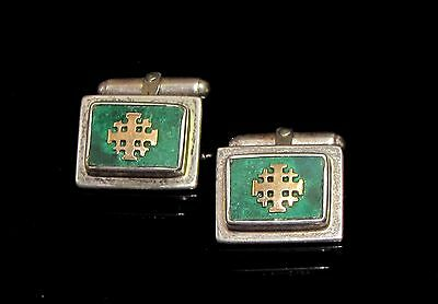 Eilat stone Silver Pair of Cufflinks.