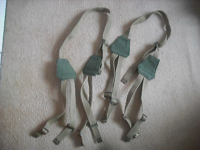 Ww2 Or Later Dispatch Rider Motorcycle Pannier Side Bag Straps  Unissued