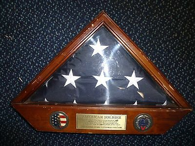 Army National Guard Flag Shadowbox AMERICAN SOLIDER  CITIZEN|SOLDIER|HERO