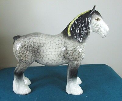 Rare Beswick Rocking Horse Grey Shire Mare  818 - No Crazing!