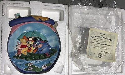 Winnie The Pooh Bradford Exchange plate It's Just A Small Piece Of Weather