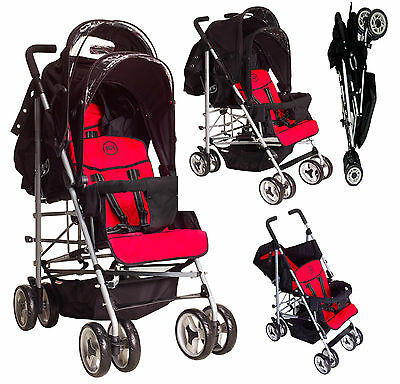 Double Tandem Duo Twin pushchair stroller Newborn-3 years footmuffs Kids Kargo