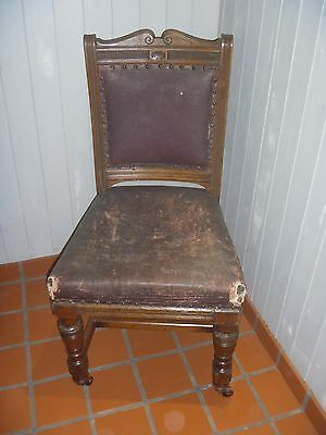 Edwardian Oak Chair...hall,dining,bedroom???....original Condition!!