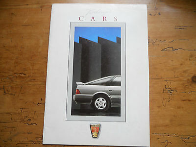 Rover Cars Range - Today's Cars Late 1980s (#3904D)