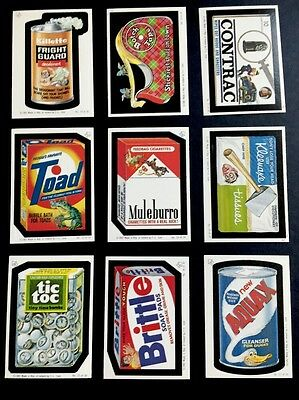 RARE 1982 IRISH Wacky Packages Topps COMPLETE Set 30/30 +3/3 Back VARIATIONS